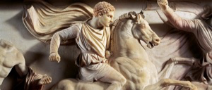 Alexander the Great with horse