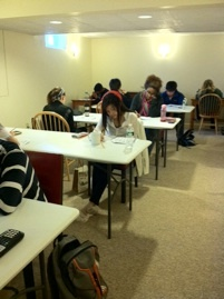 Our students at work on an SAT Practice Test